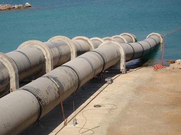 Подводный переход для газопровода, прокладка дюкера, водопровод под рекой