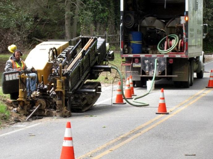 Прокладка водопровода под дорогой, проложить водопровод бестраншейным способом, прокол под дорогой под воду