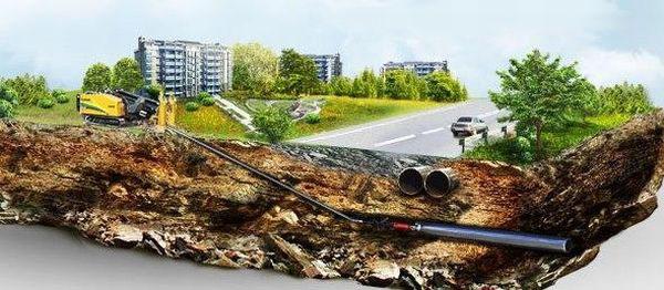 Защитный кожух для газопровода при прокладке методом ГНБ, прокладка газовой трубы под дорогой