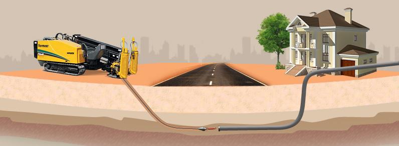 Бестраншейная прокладка газопровода в защитном футляре, переход через дорогоу под газ
